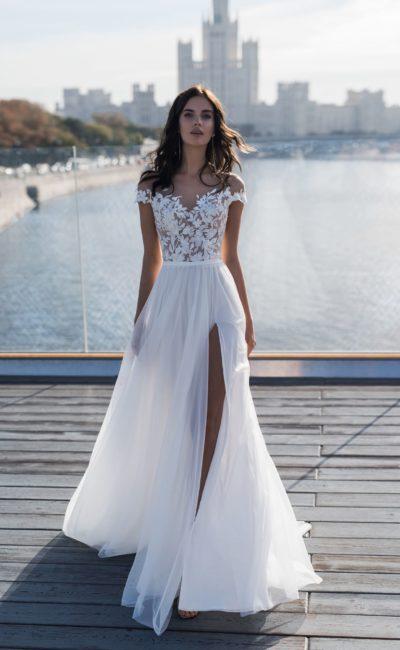 Пляжное прямое свадебное платье