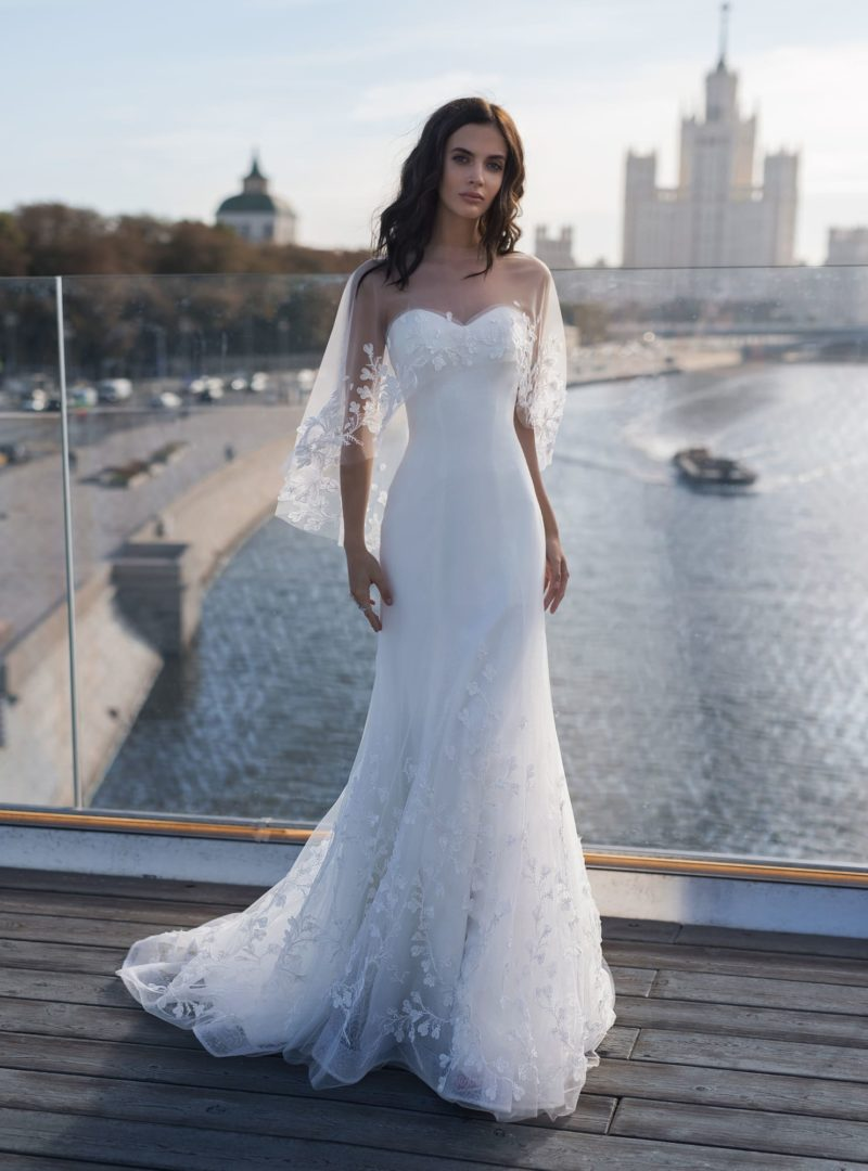 свадебное платье с элегантным силуэтом «русалка»