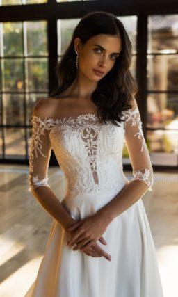 Свадебное платье с верхом
