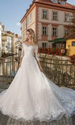 свадебное платье для торжественной церемонии