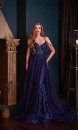 вечернее платье-трансформер глубокого синего цвета