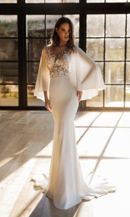 Облегающее свадебное платье русалка