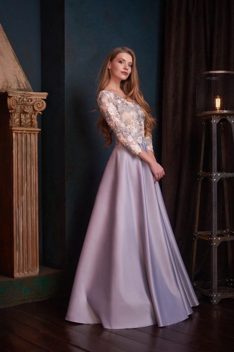 Элегантное вечернее платье в пол
