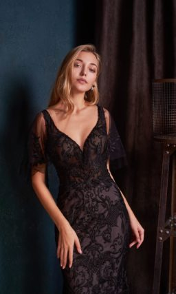 Роскошное вечернее платье в пол силуэта «русалка»