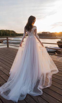 Кружевное платье русалка с рукавом