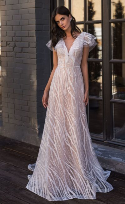 Свадебное платье из модной ткани