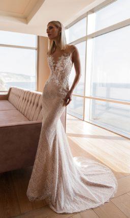 Кружевное свадебное платье русалка