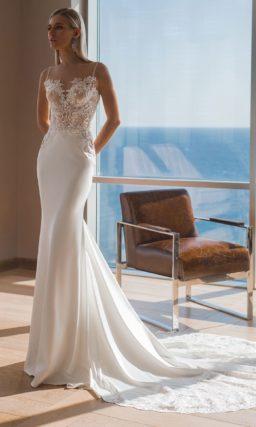 Платье русалка с небольшим шлейфом