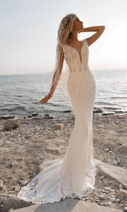 свадебное платье с силуэтом «русалка»