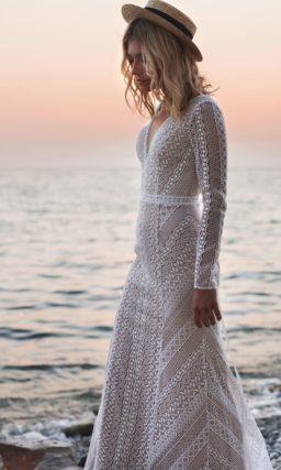 Ажурное свадебное платье в бохо стиле