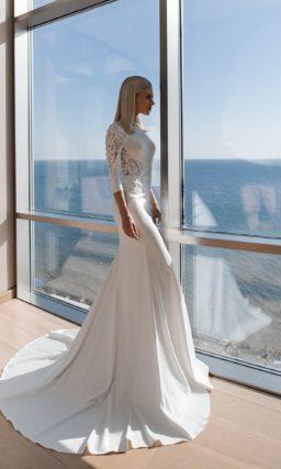 Простое платье русалка с рукавом