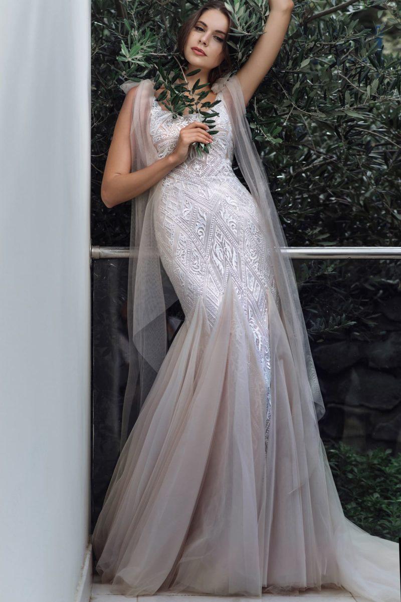 Роскошное облегающее платье-русалка
