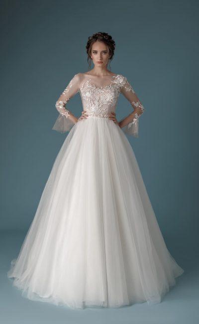 Свадебное платье из воздушного фатина