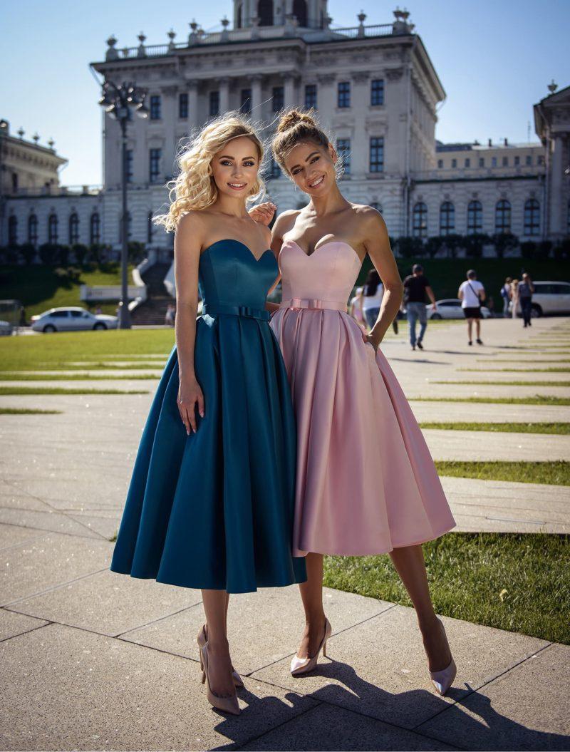Коктейльное платье с длиной миди