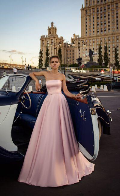 Красивое розовое выпускное платье