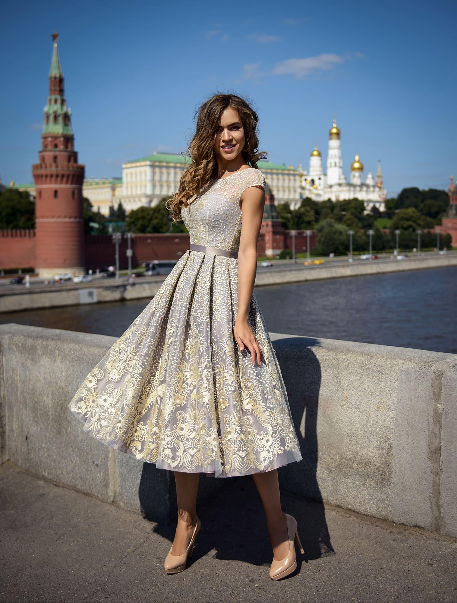 купить вечернее короткое платье в москве недорого