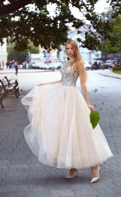 9406bcd4b55bc67 Белое вечернее платье в качестве свадебного ▷ Свадебный Торговый ...