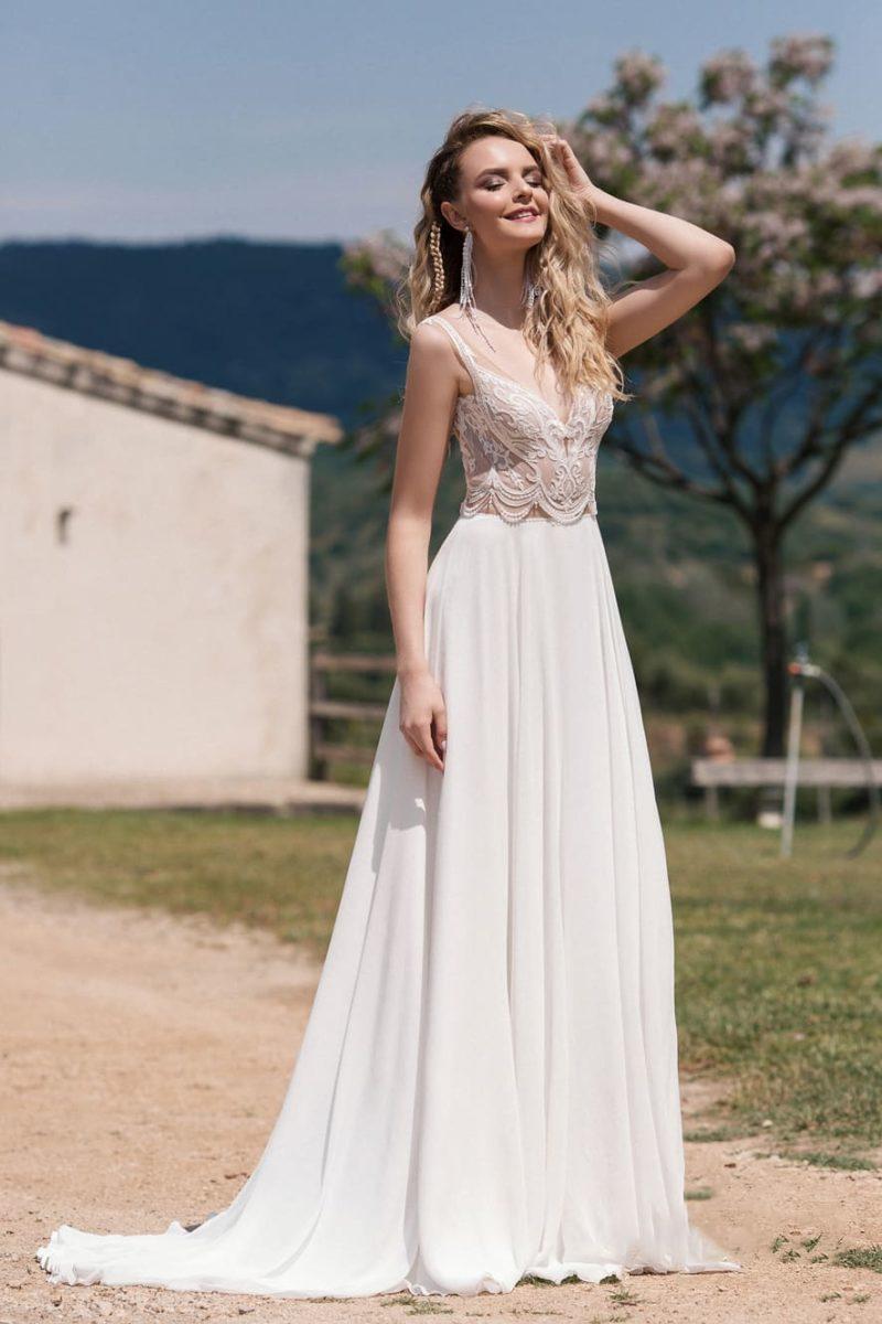 Приталенное платье в стиле кроп-топ