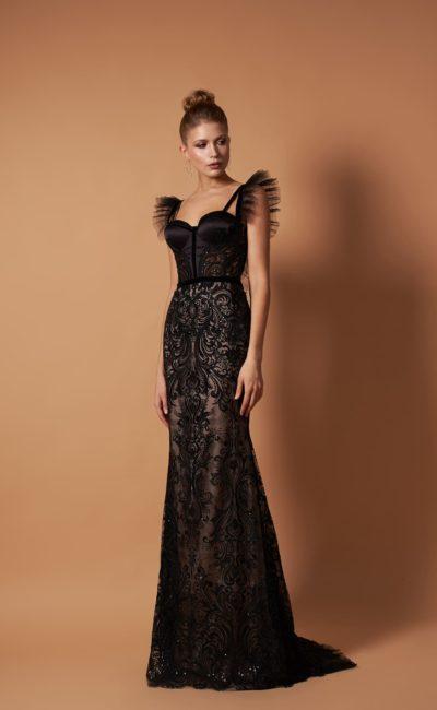 Эффектное вечернее платье в пол силуэта «русалка»