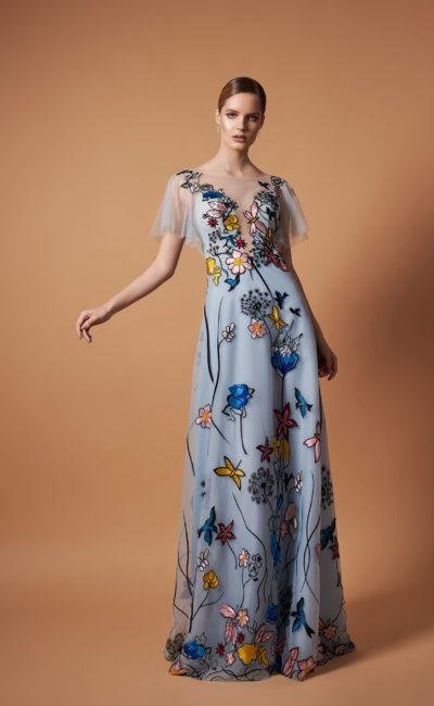 Длинное летнее вечернее платье