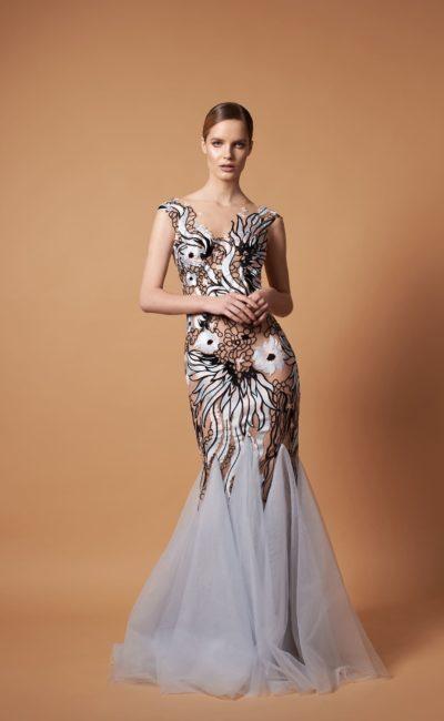 платье силуэта «русалка» в стиле nude