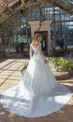 свадебное платье с гипюровым лифом