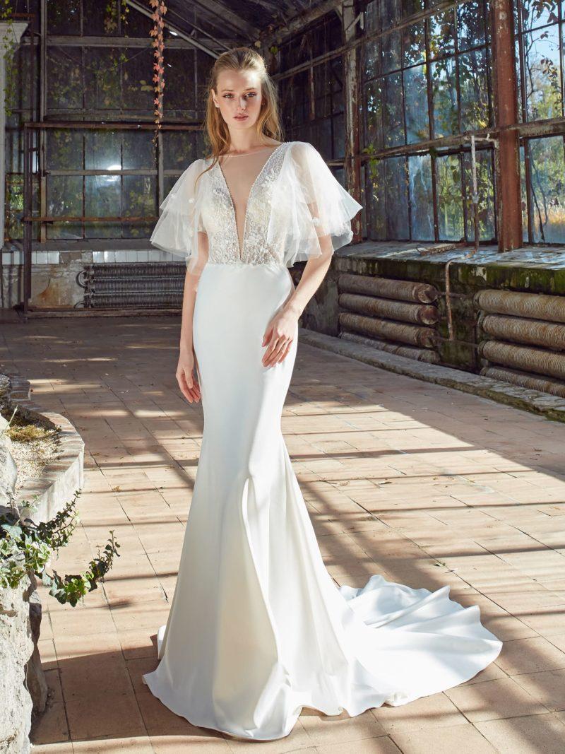 Платье: облегающая юбка из гладкого шелка