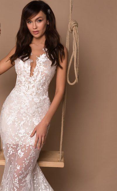 Кружевное платье русалка