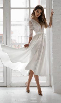 Летнее свадебное платье миди