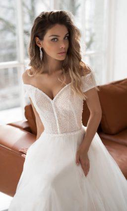 свадебное платье оттенка айвори