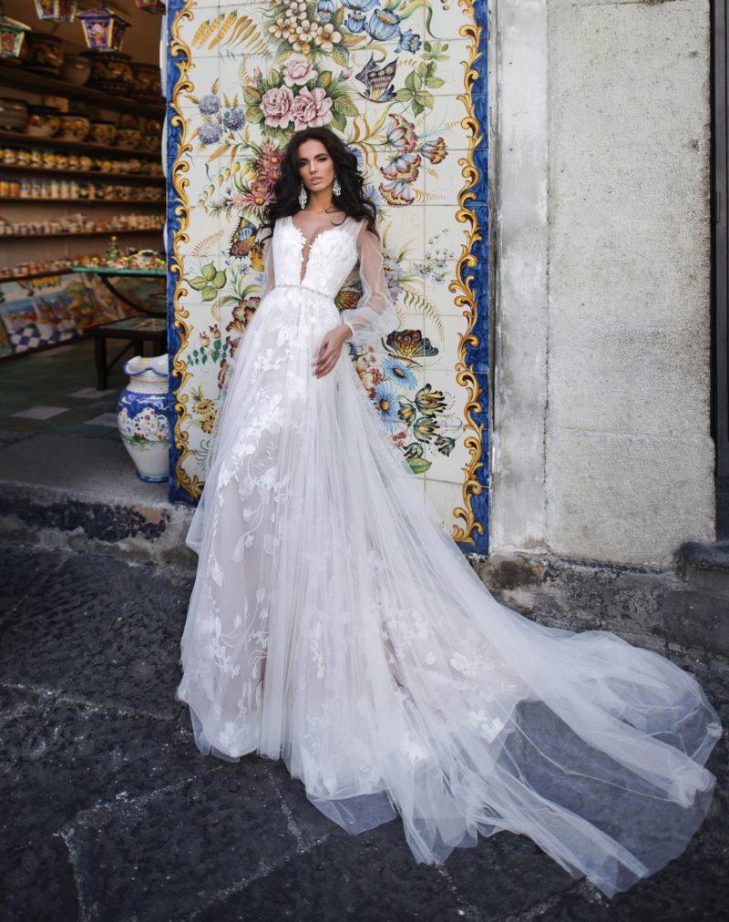 Воздушное свадебное платье в стиле бохо