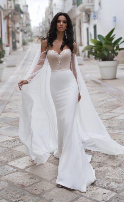 элегантное свадебное платье силуэта «русалка»