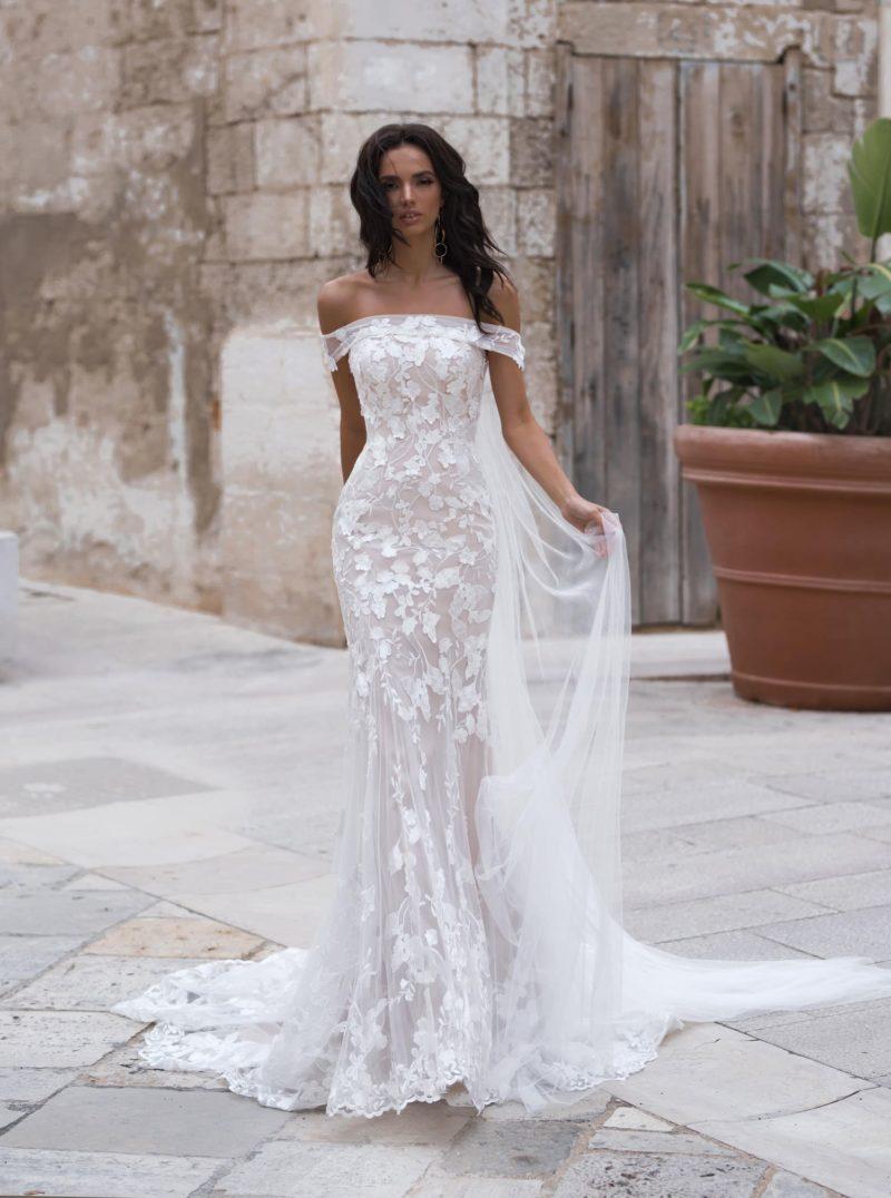 воздушное свадебное платье силуэта «русалка»