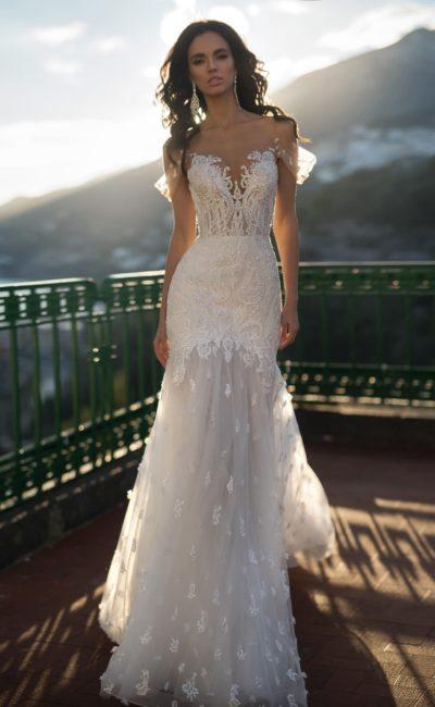 Роскошное свадебное платье силуэта «русалка»