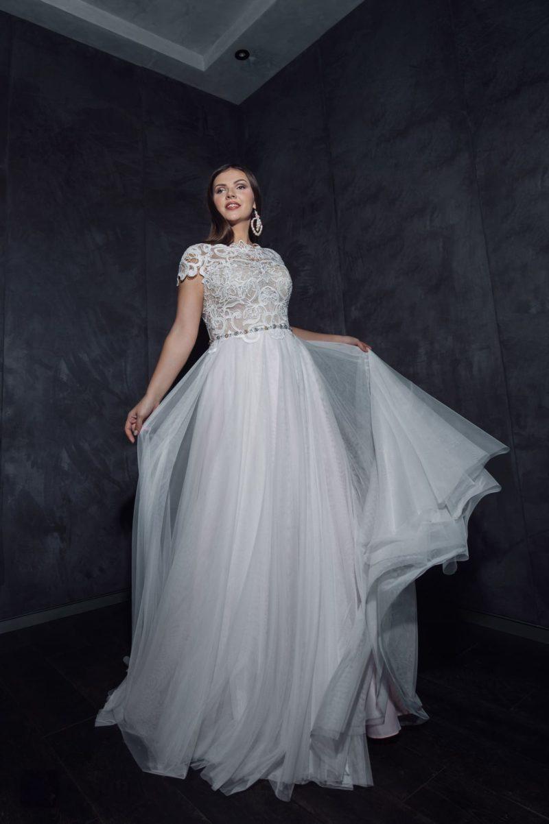 Свадебное платье для полной невесты