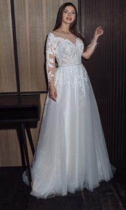 Свадебное платье с рукавами на полную девушку