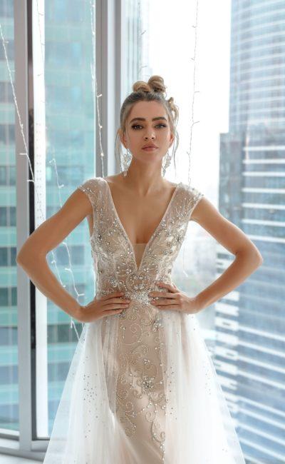 63e998f3b1d Расшитое платье Айвори Nora Naviano 8176 ivory ▷ Свадебный Торговый ...