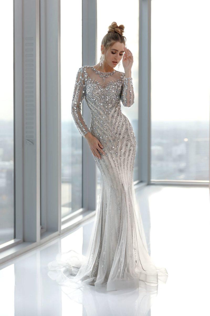 Роскошное вечернее платье силуэта «русалка»