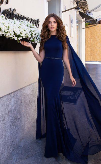 платье силуэта «русалка» с юбкой в пол