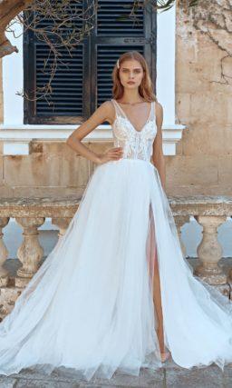 Летнее свадебное платье с открытой спиной