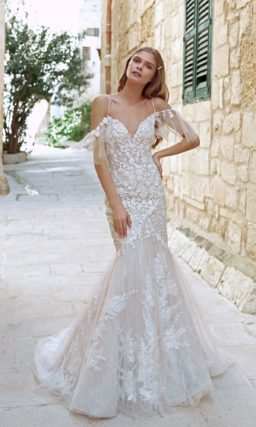 Летнее свадебное платье силуэта «русалка»