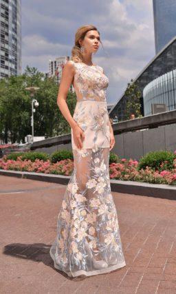 Длинное платье прямого кроя