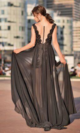 длинное платье черного цвета
