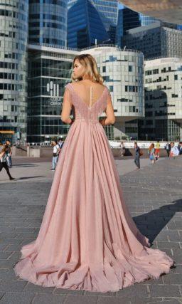 Выпускное платье розового оттенка