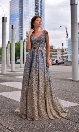 Мерцающее вечернее платье