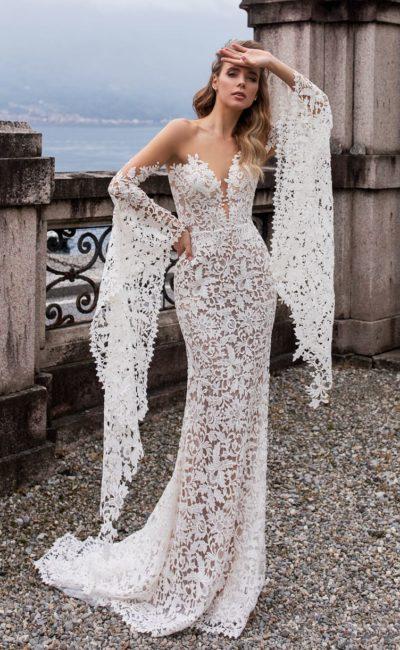 Ажурное платье «русалка»