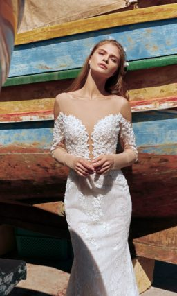 Изысканное свадебное платье-русалка