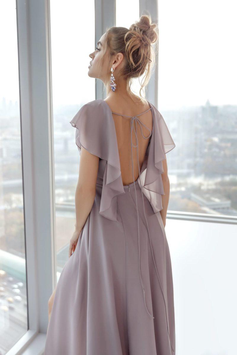 платье лавандового оттенка