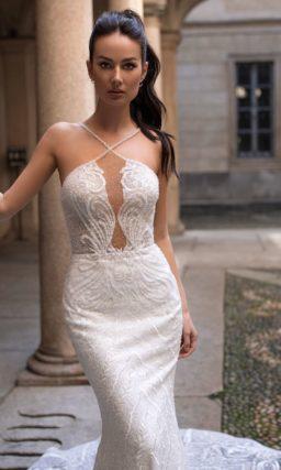 Свадебное платье-русалка со шлейфом