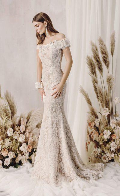 Ажурное свадебное платье «русалка»